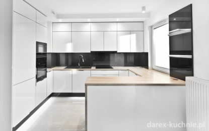 kuchnia w czerni i bieli
